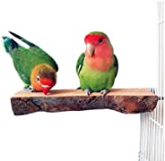 ANTOLE Bird Parrot Perch Natural Wood For Bird Cage Wooden Hanging Perch Toy for Small Parakeets Cockatiels, C