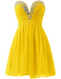 sunvary brillantes a-line Sweetheart gasa fiesta fiesta de vestido de fiesta vestidos de dama