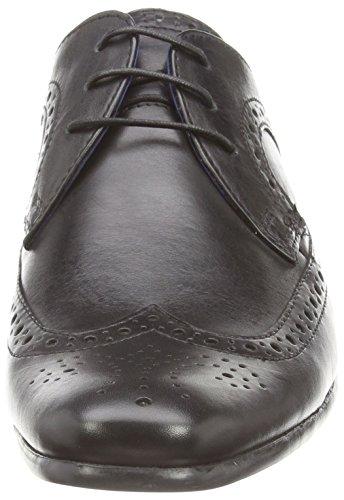 Red Tape Louth, Chaussures brogues à lacets homme Noir - Noir