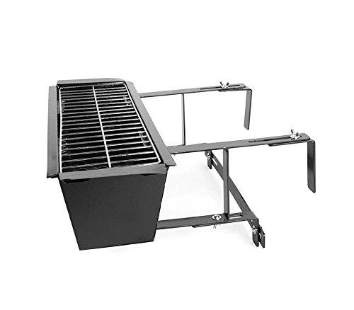 Mediawave Store Barbecue Universale 10756 da Balcone per ringhiere 19x58x38 cm braciere