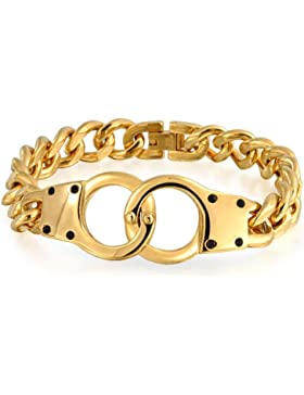 Bling Jewelry Geheimnis Schattierungen Handschellen Armband Vergoldet Edelstahl