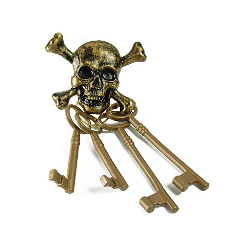 Kind Mantel Und Degen Pirat Kostüm - Bristol Novelty BA204Pirat Skelett Schlüssel, mehrfarbig,