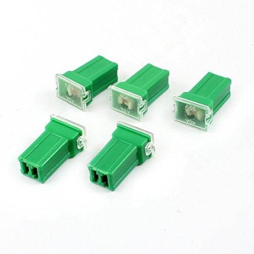 Sourcingmap® KFZ Anschluss gerade Female PAL Sicherung 40Amp 32V, Grün, 5 Stück de 40a Fuse Terminal