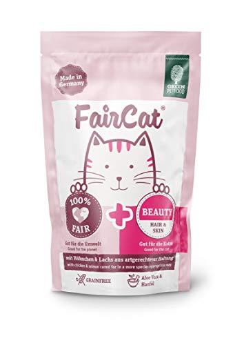 Green Petfood FairCat Beauty - Getreidefrei - Katzenfutter Nass 16x85g