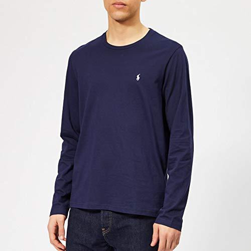 Navy Sleeve Blue T Men's Polo Cruise Cotton Ralph Xxl Lauren Long Shirt Jersey 0wPXkN8nO