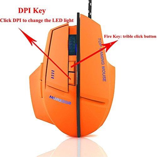 werleo 2400DPI 7Tasten USB Wired Gaming Maus für PC Apple MacBook Pro Gamer (Maus Apple Wired Computer)