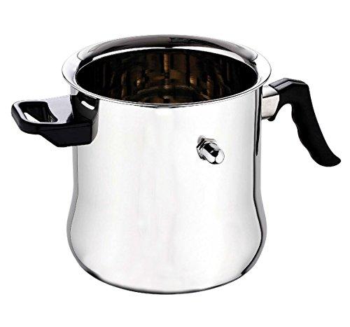 Edelstahl Milchtopf 3 Liter - Milchkocher - Milch Topf - Simmertopf - Milcherwärmer - Wasserbadtopf - Wasserbadkocher