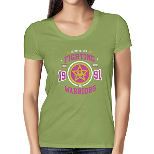 TEXLAB - Pretty Soldier Fighting Warriors - Damen T-Shirt Kiwi