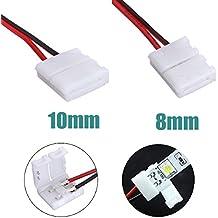 5x10mm 5050 Adaptador PCB Tira de la luz LED de Alambre Conector 2 Pines Blanca
