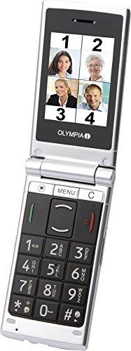 Image of OLYMPIA 2149 Nova Plus Klapp-Handy (6,1 cm (2,4 Zoll), Bluetooth, FM-Radio, Taschenlampe) silber
