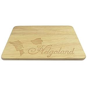 Brotbrett Helgoland Nordsee Insel Düne Gravur Holz