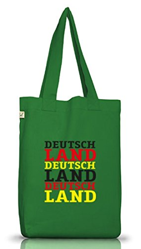 EM/WM 7 - Deutschland Deutschland Deutschland, Jutebeutel Stoff Tasche Earth Positive (ONE SIZE) Moss Green