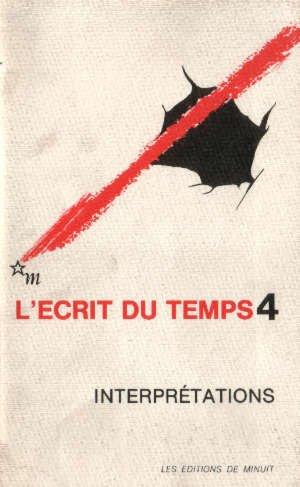 L'écrit du temps, numéro 4 : interprétations (automne 1983)