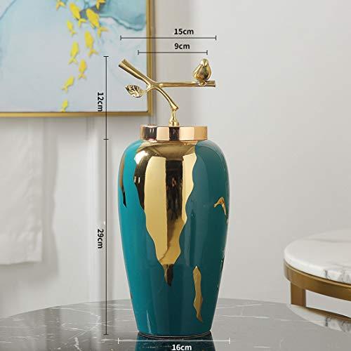 SSNG Große Vase, Vasen Glas Dekorative Blumenvasen Hohe Moderne Bodenvase Chinesischer Retro-Stil Für Hauptdekor Wohnzimmer Mittelstücke Und Ereignisse