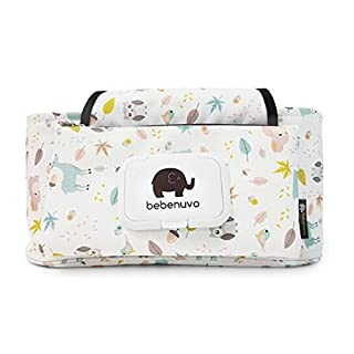 UCTOP STORE Cute Cartoon Canvas Baby Stroller Storage Bag Mummy Child Stroller Hook Bag Baby Stroller Pram Organizer Bag Carriage Hanging Bag Accessories