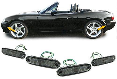 Preisvergleich Produktbild Carparts-Online 28334 Seitenmarkierungsleuchten Reflektoren schwarz smoke Set