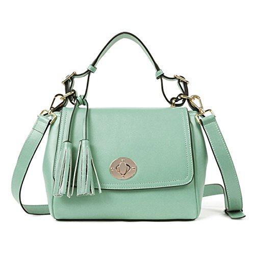 PACK Ladies Leather Ladies Dolce Tassels Messenger Bag Ladies Piccolo Borsa Portatile,A:RoseRed C:LakeBlue