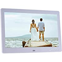 10 Inch Digital Photo Picture Frame Electronic Album High Resolution 1024 * 600 MP3 MP4 Picture Player Electronic Clock/Alarm Clock/Calendar with Remote Control Gift Present