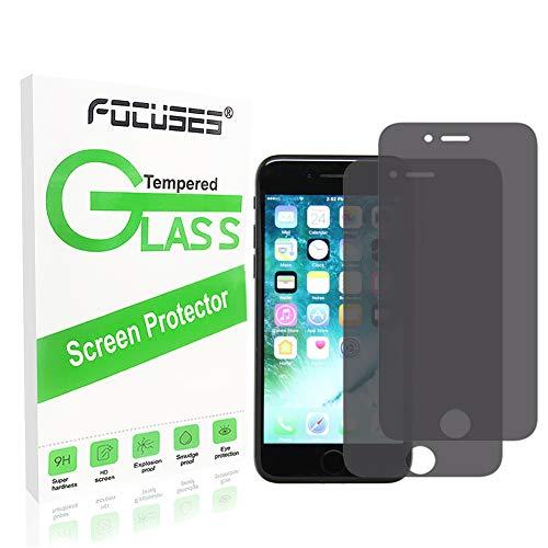 Displayschutzfolie aus Japan für iPhone 7 / 8 [Anti-Spy]Anti-Blendschutz, vollständig abgedeckt, Schutzfolie, Schutzfolie, für Apple iPhone 7/8 [3D Touch] [2 Stück]2.5d/Hüllenfreundlich/Fokussierungen -