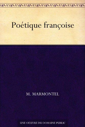 Couverture du livre Poétique françoise