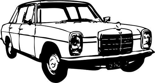 Wandtattoo: Mercedes-Benz/8, Strich-Acht, W 114 W 115, Mercedes-Benz, Daimler, Auto, Tuning, Accessoire // Farb- und Größenwahl (Weiß - 450 mm x 250 mm)