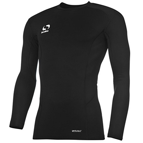 Baselayer Langarm Kompression Sport Funktion Shirt Schwarz 11-12 Yrs ()