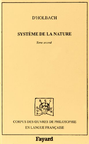 Système de la nature : Tome 2