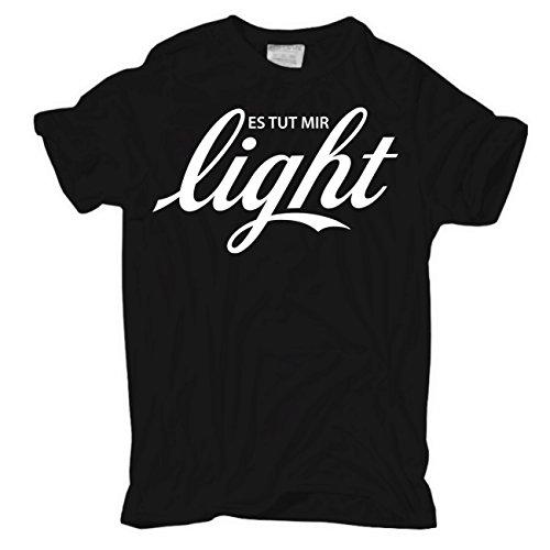 Männer und Herren T-Shirt Es tut mir LIGHT Körperbetont schwarz