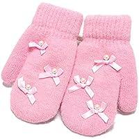 Wangcui Baby Mädchen Jungen süß verdicken Winter warme Handschuhe für 4-6 Jahre alt (Farbe : Rosa)