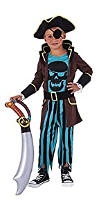 Rubies- Pirata Disfraz, S (3-4 años) (Rubie