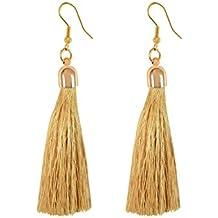 Pendientes largos de I Jewels de flecos estilo tribal, para mujer (E2553FL)