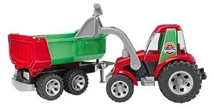 Bruder 20116  Roadmax - Tractor de plástico con cargador frontal y remolque