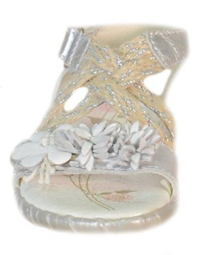 Primigi–primigi sandaletti fille argent cuir déchirures 82223 Argent