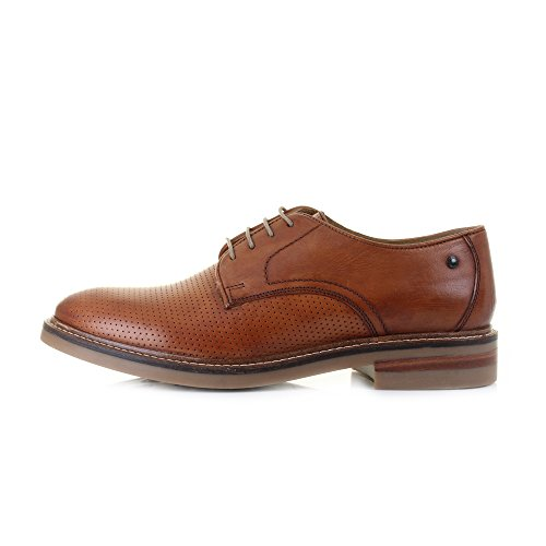 B1022 scarpa classica BASE LONDON STANFORD shoes men Marrone (Tenné)