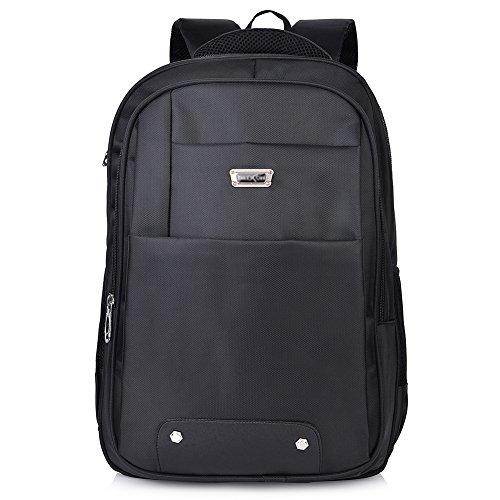 Vbiger Zaino per Computer Portatile e Notebook Macbook Grande Capacità Fino 17 Inch (Nero 1)