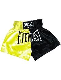 Everlast EM7 - Pantalón de thai boxing unisex, color dorado / negro, talla XL