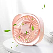 Santo USB Table Fan, Mini Desk fan Use with 3.94ft Cable, Cooling Fan for Home & Office Quiet and Powerful