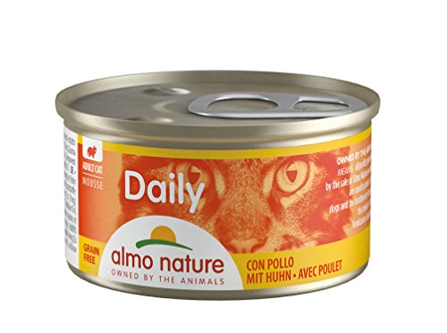 Almo Nature Daily Katzenfutter Mousse mit Huhn (24 x 85 g)