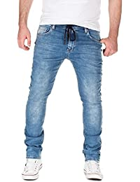 Yazubi Herren Sweathose in Jeansoptik Skinny Fit