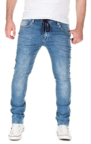 Yazubi Herren Sweathose in Jeansoptik Skinny Fit light blue (20032)