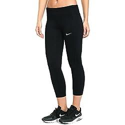 Nike W Nk Essntl Crop DF Mesh, Women, Black, M