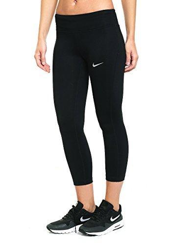 Nike W Nk Essntl Crop DF Mallas, Mujer, Negro, M