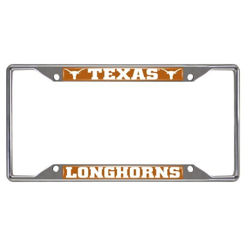 Texas License Plate Frames (FANMATS NCAA University of Texas Longhorns Chrome License Plate Frame by Fanmats)