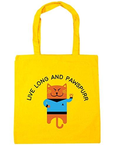 hippowarehouse-vivir-largo-y-pawspurr-tote-compras-bolsa-de-playa-42cm-x38cm-10litros-amarillo-amari