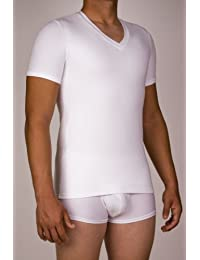Underworks Mens Microfiber Compression v-neck T-shirt
