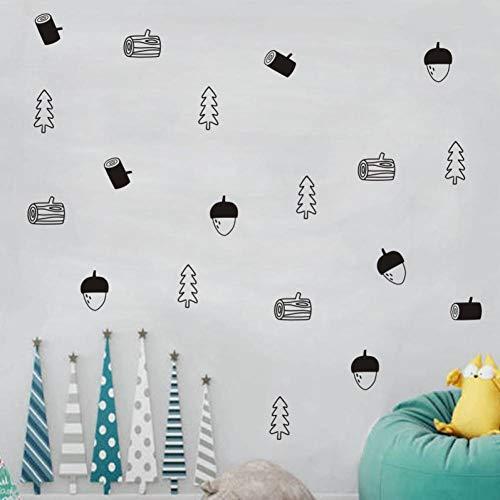 FOMBV Wandaufkleber Obstpflanze Muster Wandaufkleber für Babyzimmer Dekoration Kinder Wandaufkleber Poster