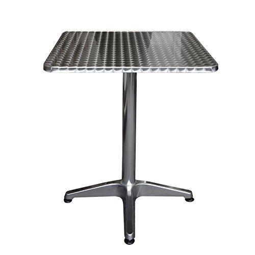 Table de jardin pliante en aluminium 60 x 60 x 70 cm