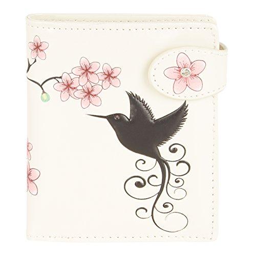 Shagwear Junge-Damen Geldbörse, Small Purse: Verschiedene Farben und Designs: (Kolibri Beige/Hummingbird)