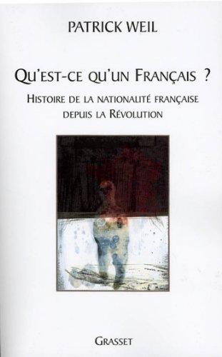 Livres Qu'est-ce qu'un français ? (essai français) pdf