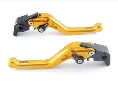 Strada 7 Racing Kurz Einstellbar Paar Gold für Honda CBR600RR 2007 Ab (Hebel Cbr600rr Shorty)